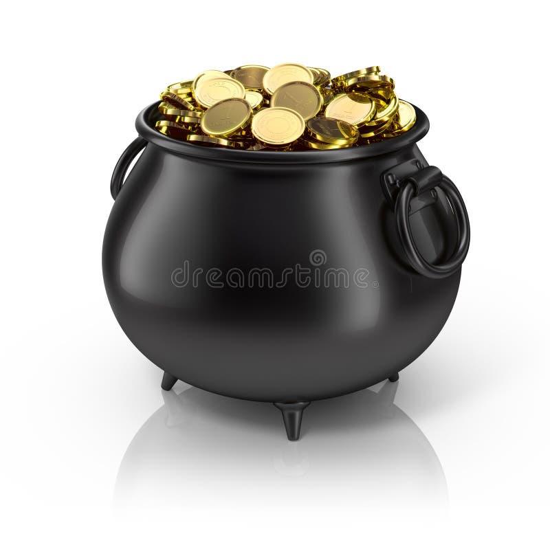 金罐 皇族释放例证