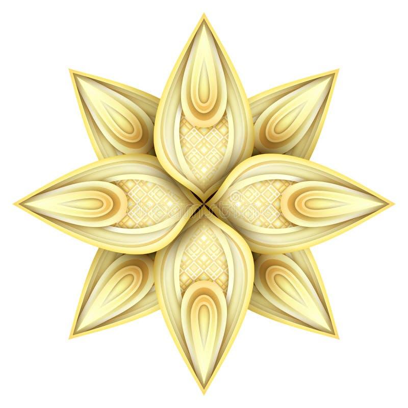 金美丽的装饰华丽坛场 皇族释放例证