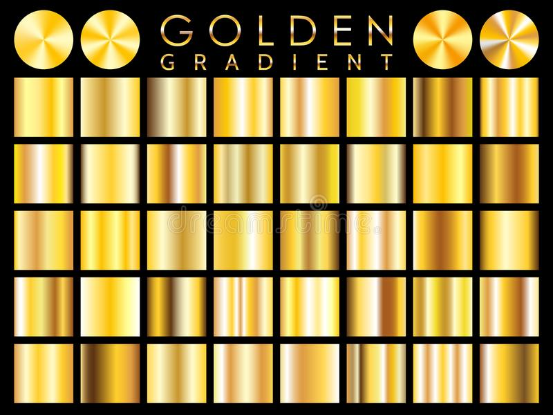 金背景纹理传染媒介象无缝的样式 光,现实,典雅,发光,金属和金黄梯度例证 库存例证