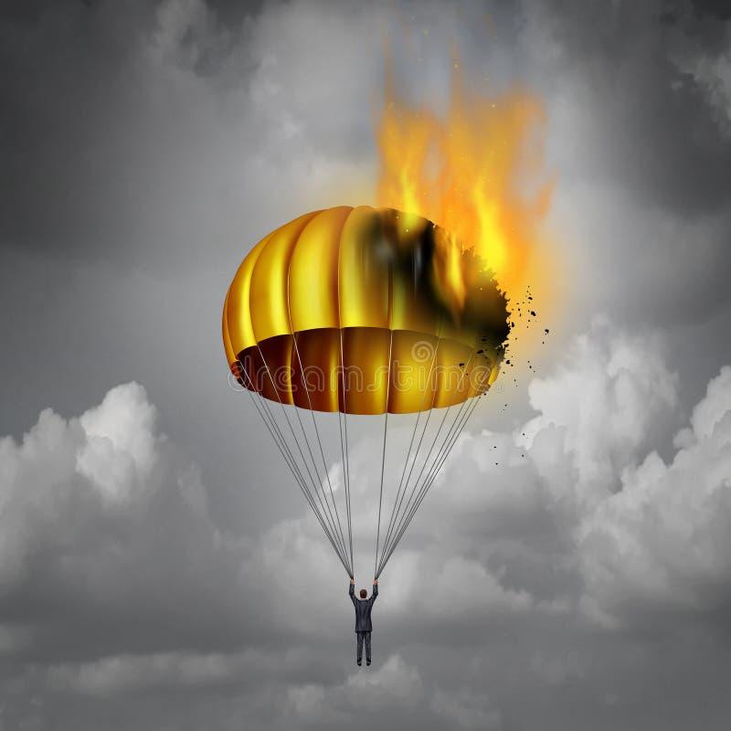 金色降落伞问题 库存例证