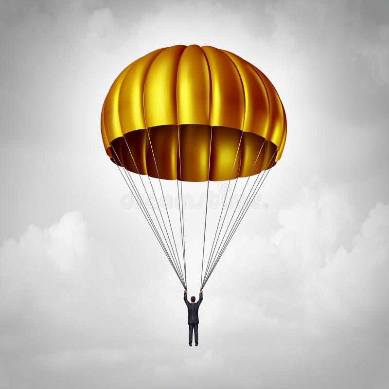 金色降落伞 库存例证