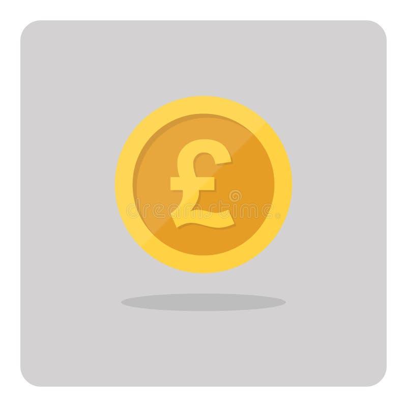 金英镑硬币象 库存例证