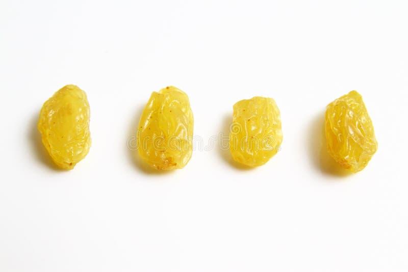 金葡萄干对黑干葡萄干 免版税库存照片