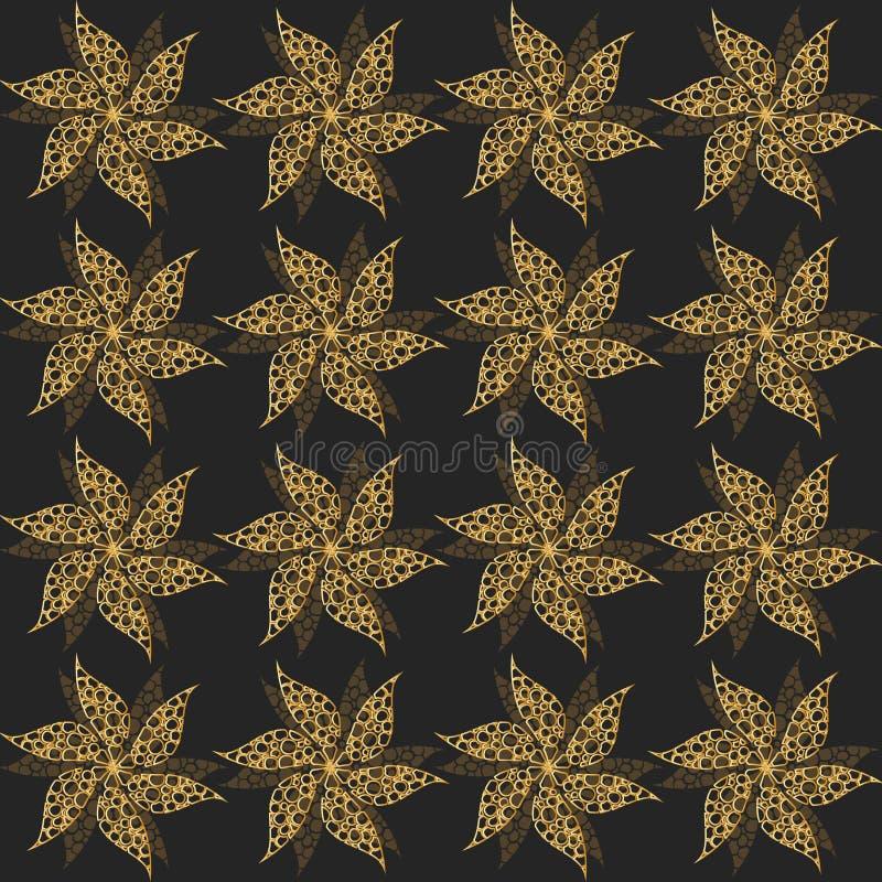 金葡萄酒花,无缝的装饰品 向量 皇族释放例证