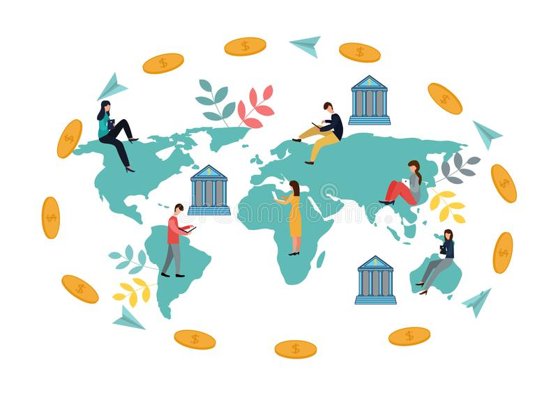 金融交易暂停的传染媒介例证,汇款 电子钱包 E 皇族释放例证