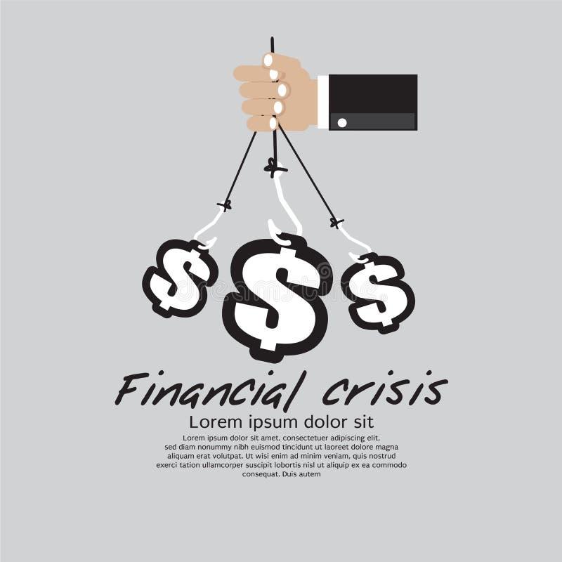 金融危机。 皇族释放例证