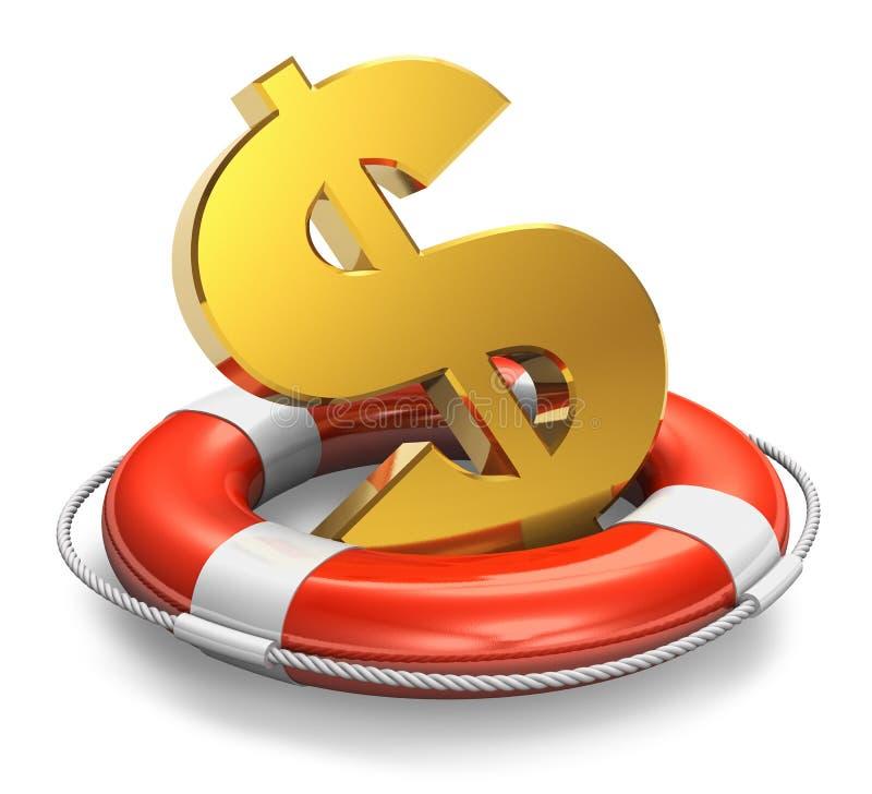金融危机概念 向量例证