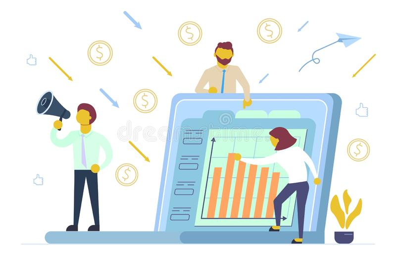 金融投资概念传染媒介平的样式例证 向量例证