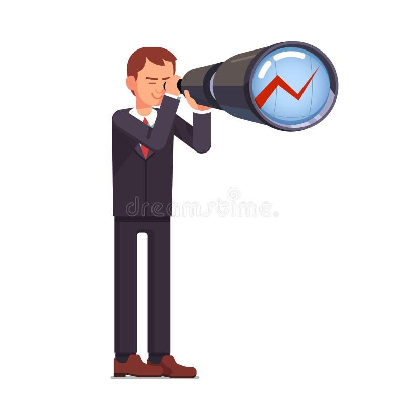 金融投资预测 库存例证