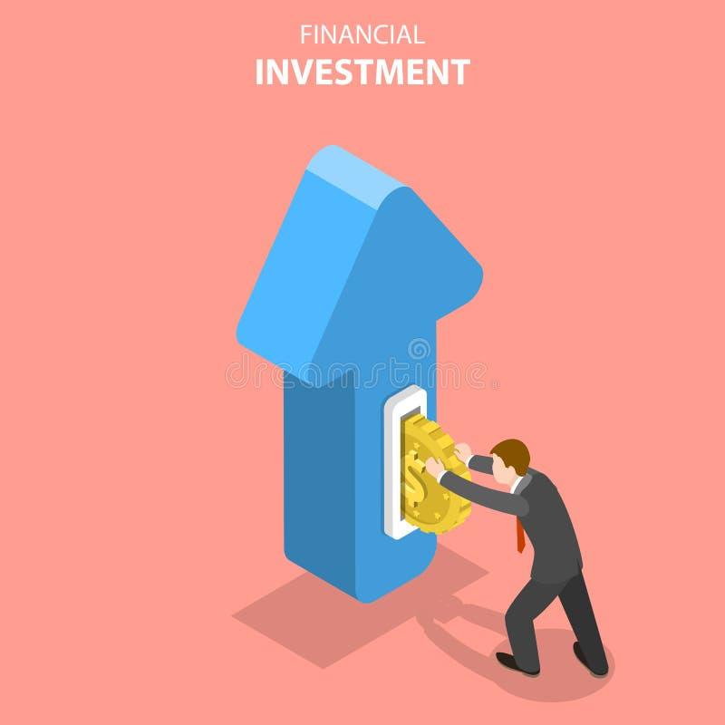 金融投资,市场分析的平的等量传染媒介概念 皇族释放例证