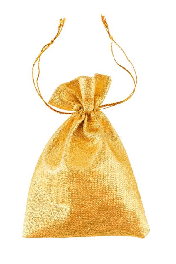 金袋子 免版税库存照片