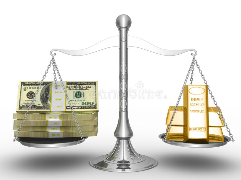金货币 向量例证