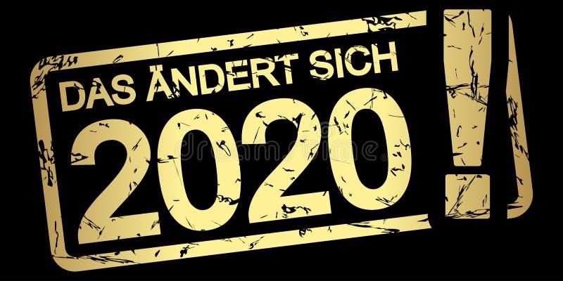 金邮票在2020个(上的变化;用德语 皇族释放例证