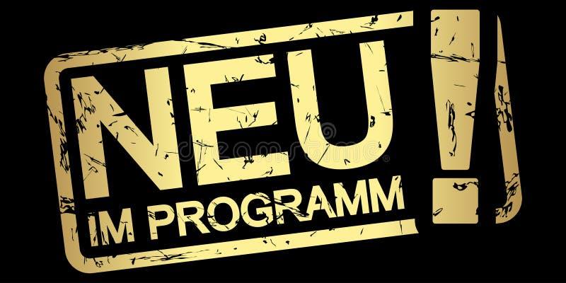金邮票新在programm (;用德语 库存例证
