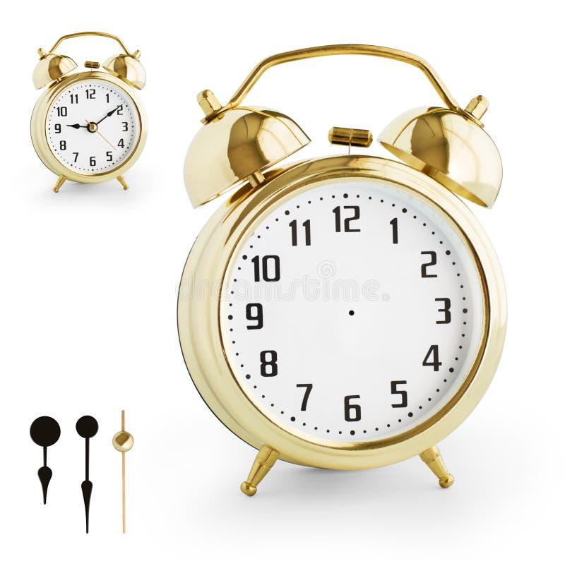 从金金属的闹钟DIY成套工具。裁减路线是包括的。 库存图片