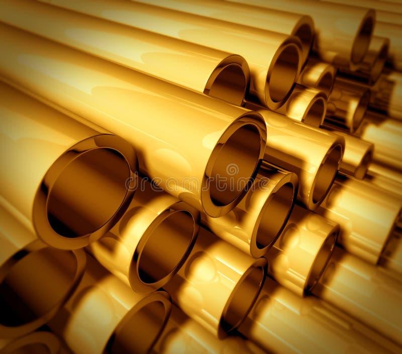 金金属管道 向量例证