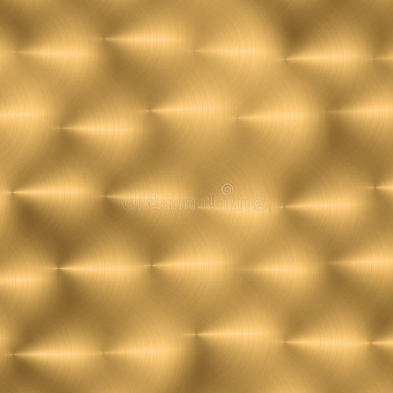 金金属纹理 皇族释放例证