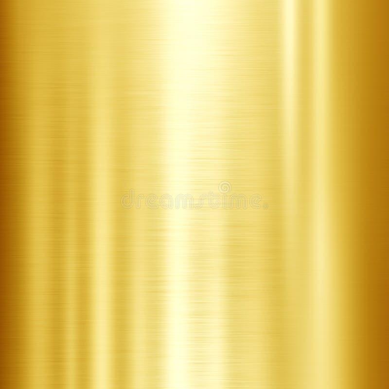 金金属纹理 向量例证