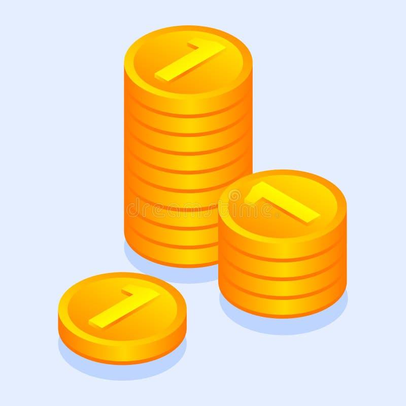 金金钱铸造象,等量样式 皇族释放例证