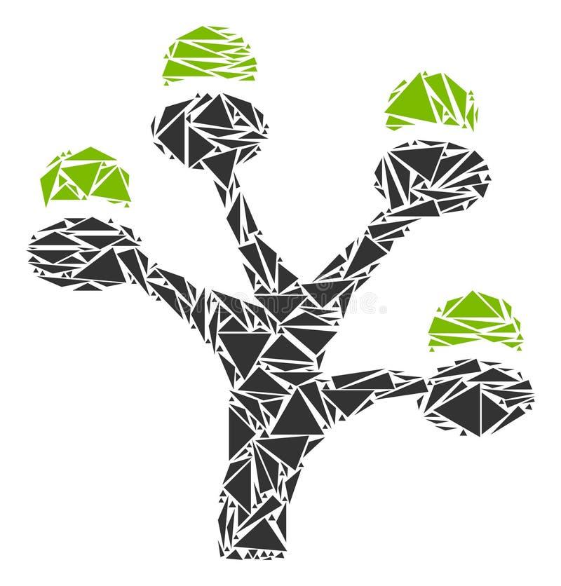金钱三角树拼贴画  向量例证