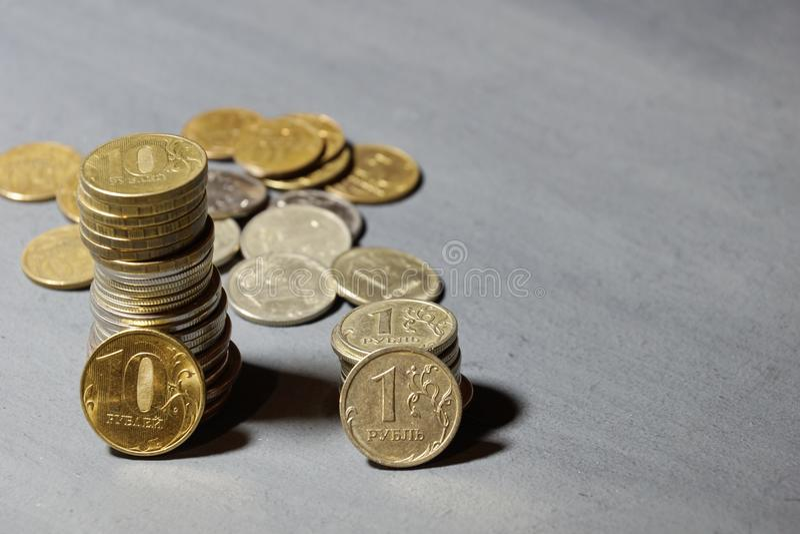 金钱俄国人硬币 图库摄影