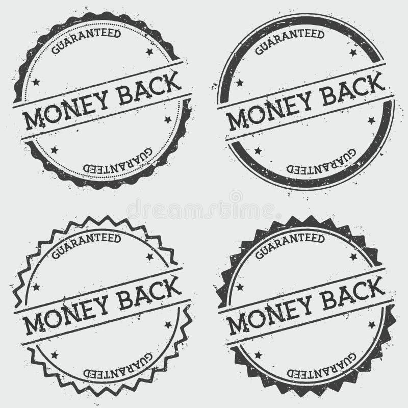 金钱保证了被隔绝的权威邮票  向量例证