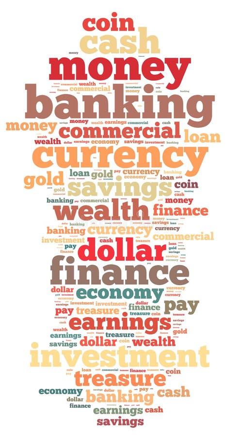 金钱信息文本图表和安排概念 免版税库存照片