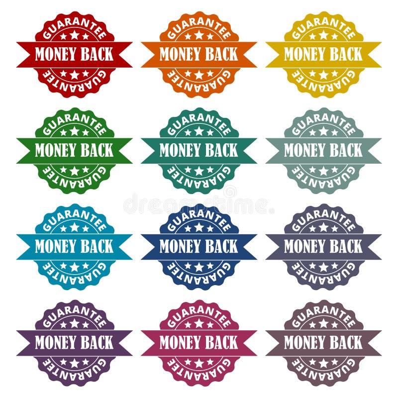 金钱后面被设置的保证象 向量例证