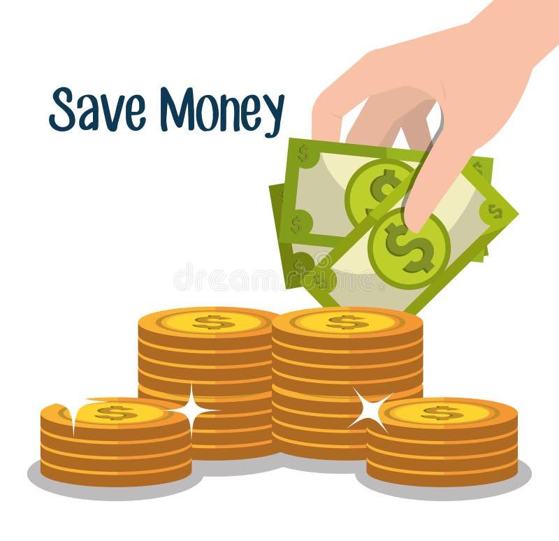 金钱和商业投资 库存例证