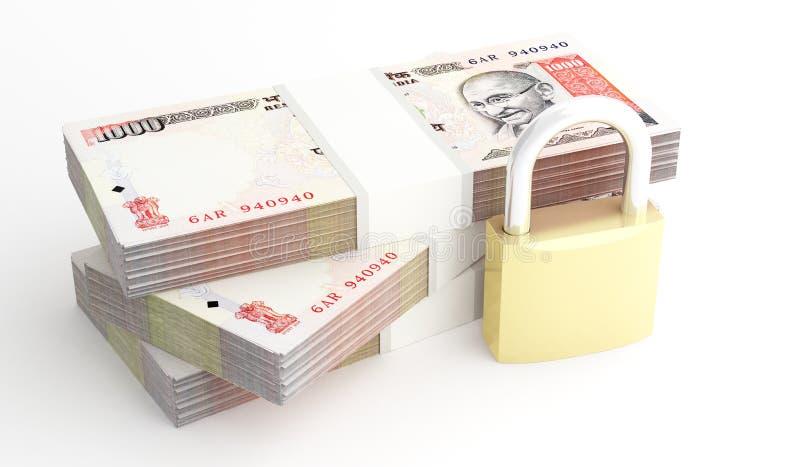 金钱和安全 库存例证