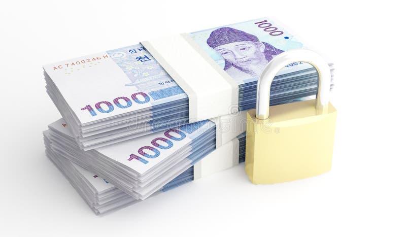 金钱和安全 向量例证