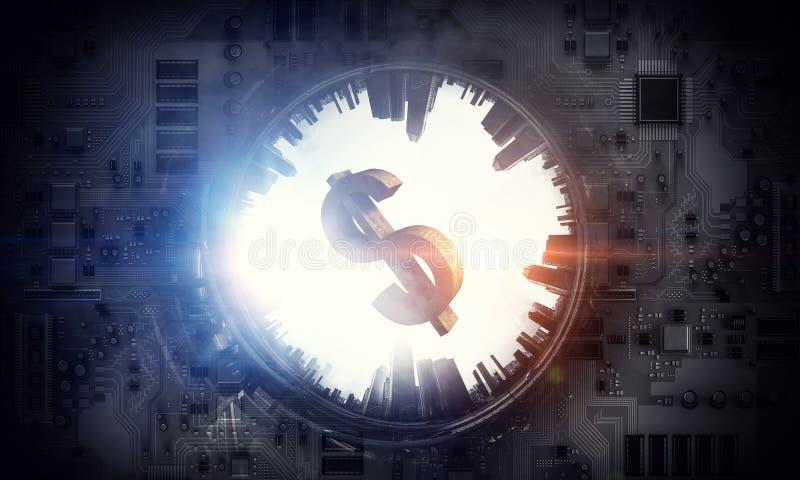 金钱和技术 向量例证