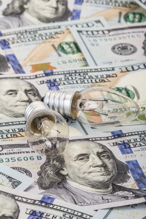 金钱和能量 库存图片