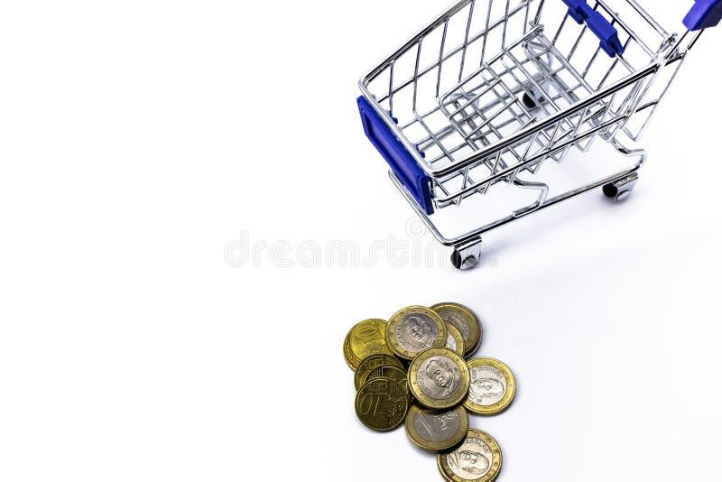 金钱和购物车 向量例证