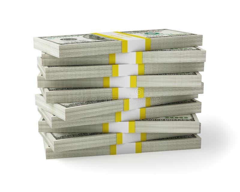 金钱堆 库存图片