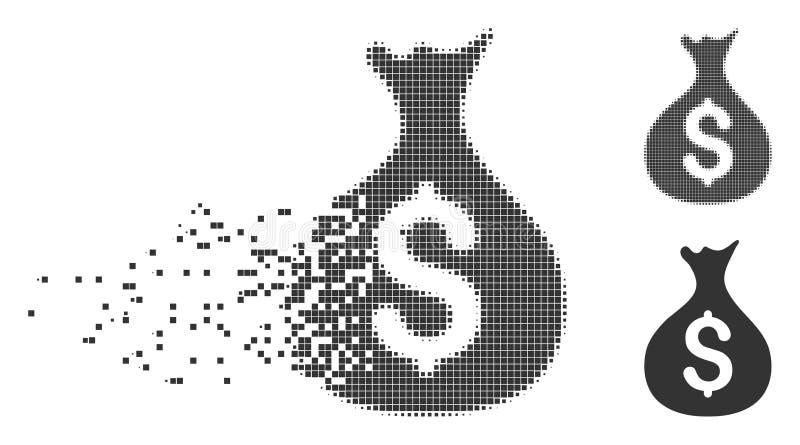 金钱大袋瓦解的映象点象 向量例证