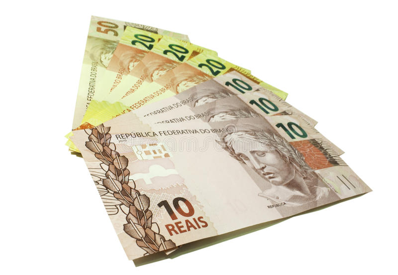 金钱实际-巴西 免版税库存图片