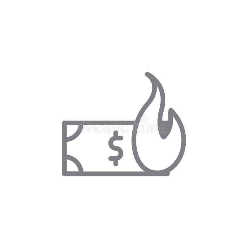 金钱害处概述象 抽烟的活动例证象的元素 r 库存例证