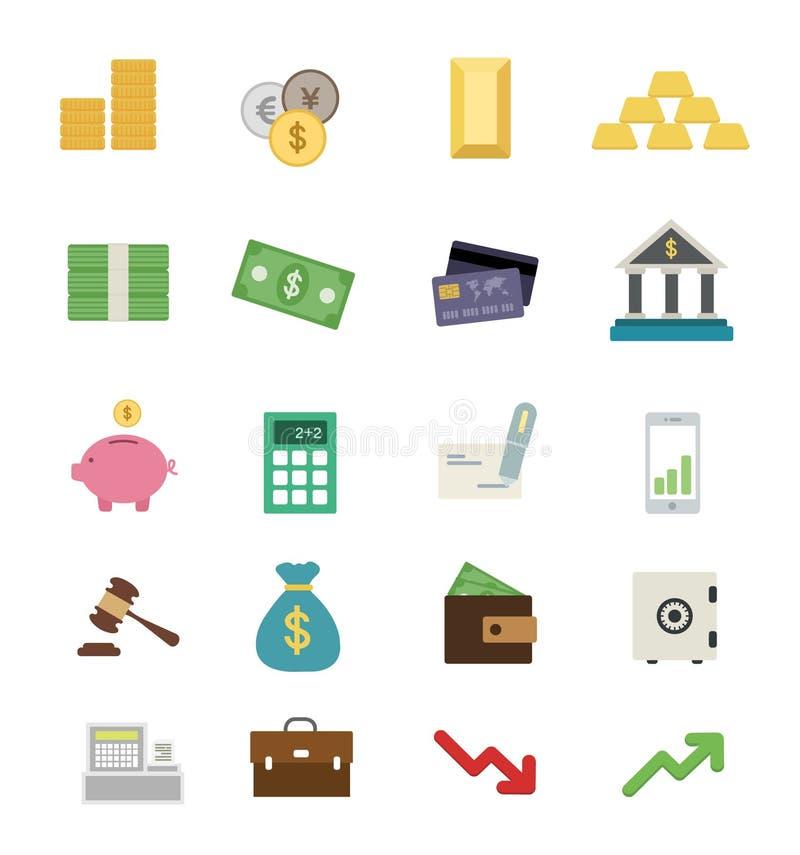 金钱平的设计象集合 库存图片