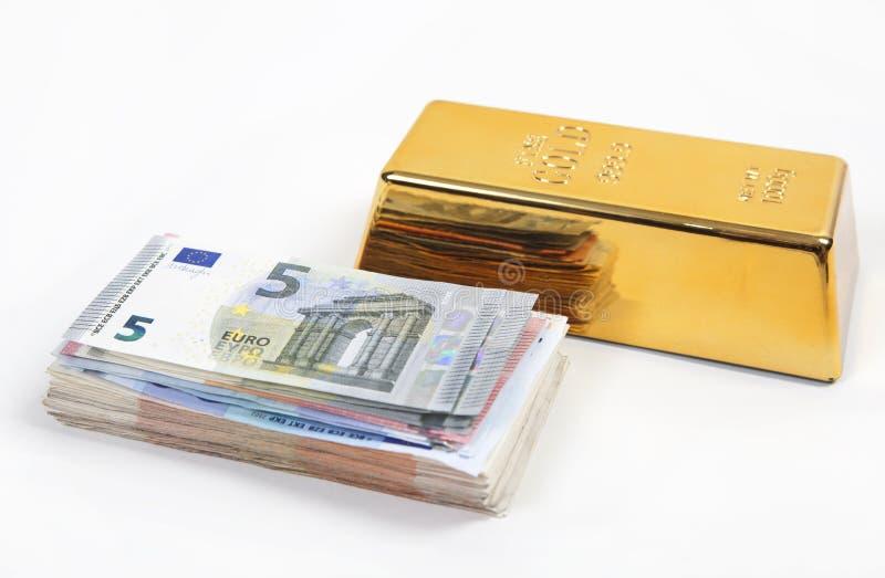 金钱或金子 库存照片