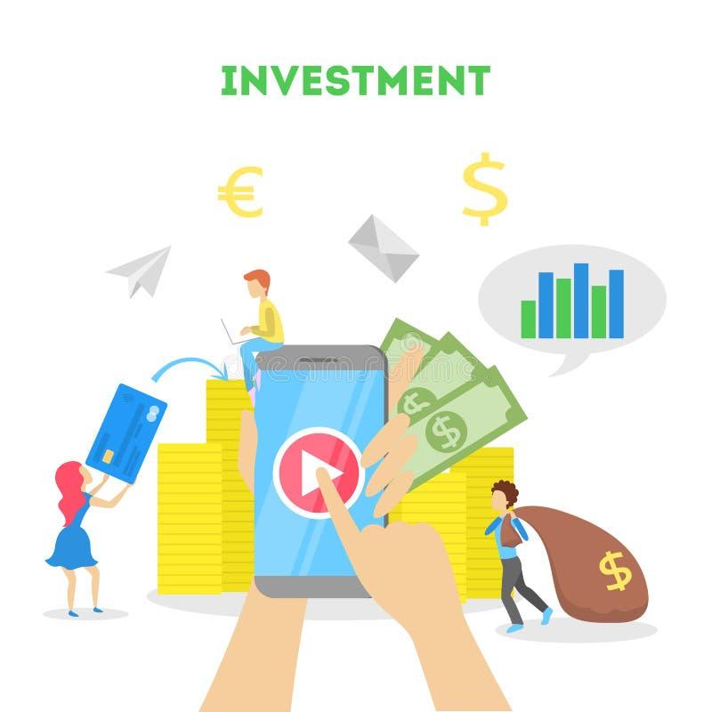 金钱投资概念 人们投资获利事务 库存例证