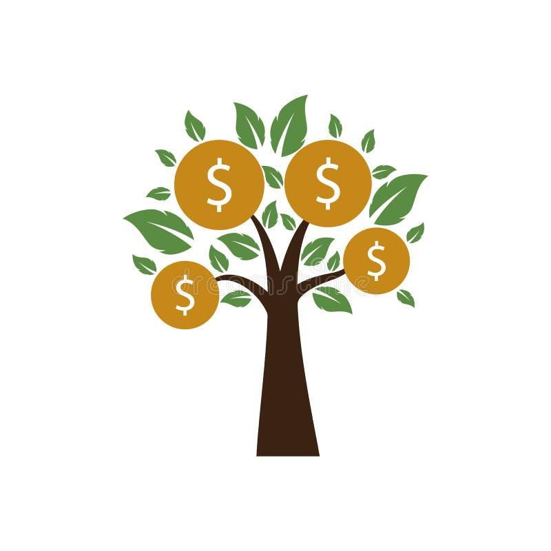 金钱树繁荣标志商标 向量例证