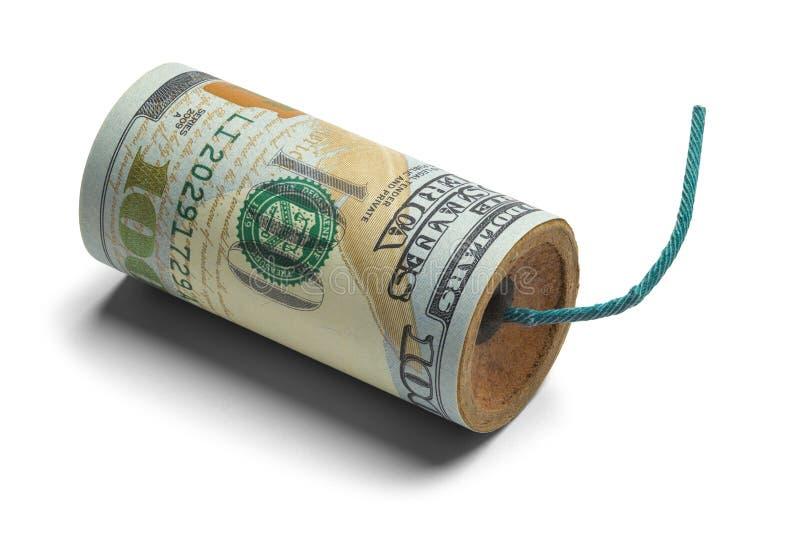 金钱炸弹 免版税库存照片