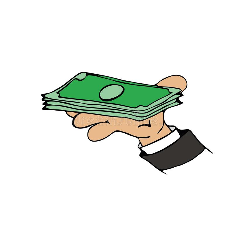 金钱现金动画片 库存例证