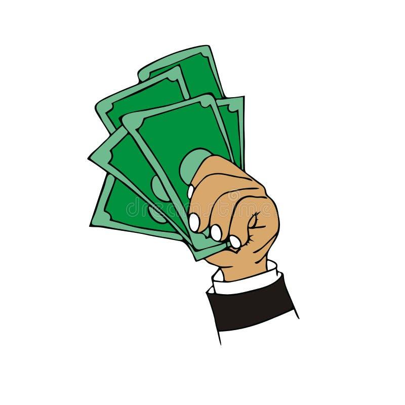 金钱现金动画片 向量例证