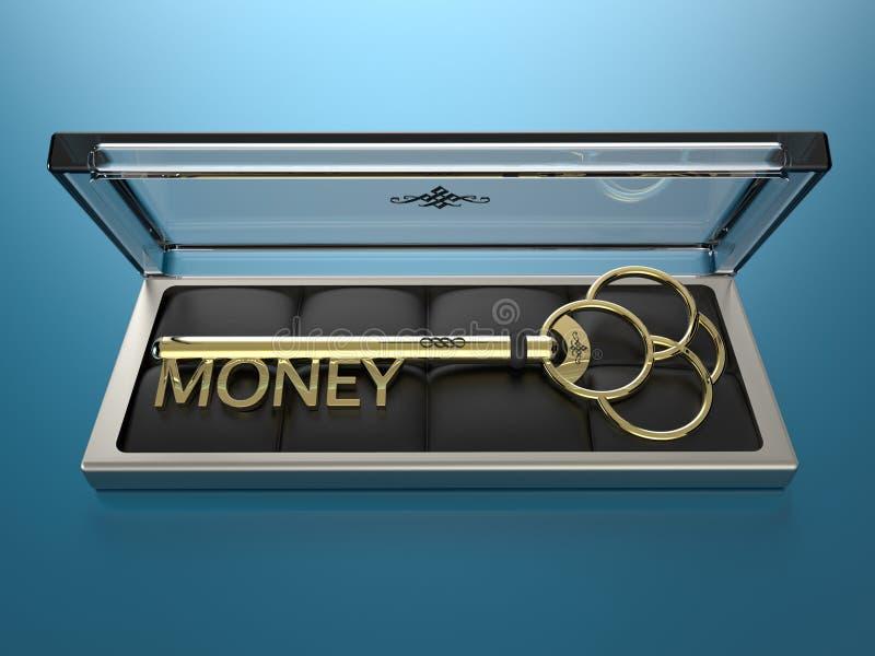 金钱的钥匙 库存照片
