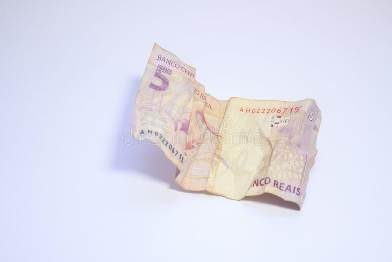 金钱真正的种类巴西金钱 库存图片