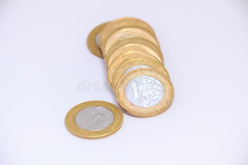 金钱真正的种类巴西金钱 免版税库存图片