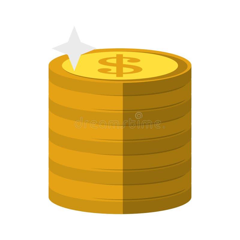 金钱硬币堆了  皇族释放例证