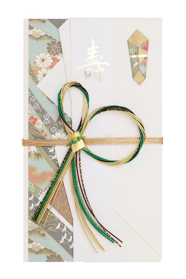 金钱礼物的日本信封 免版税库存图片
